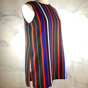 Vince Camuto | Striped Sleeveless Career Top